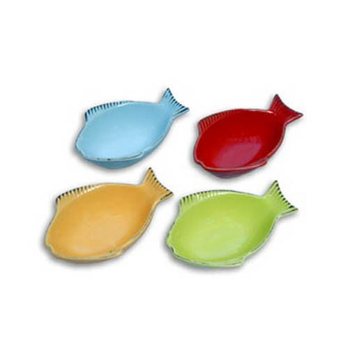 One For Pets One for Pets Fish Shaped Bowl