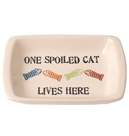 Petrageous Petrageous One Spoiled Cat Regtangle Saucer 2.5oz