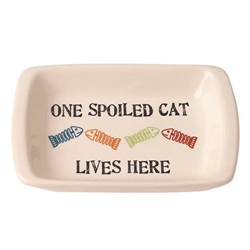 Petrageous Petrageous One Spoiled Cat Regtangle Saucer 2.5oz