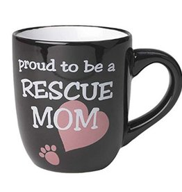 Petrageous Petrageous Lucky Paws Proud to be a Rescue Mom Mug 18oz