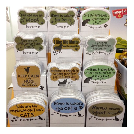 """E&S E&S Pets Magnetic Notepad """"No Home is Complete Without the Pitter Patter of Furry Feet"""""""