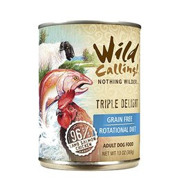 Wild Calling Wild Calling Dog Can Triple Delight 96% Lamb, Salmon and Chicken 13oz