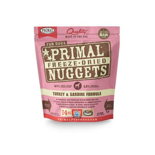 Primal Freeze Dried Canine Turkey & Sardine 14oz