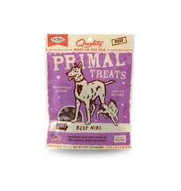 Primal Jerky Beef Nibs for Dogs & Cats 4oz