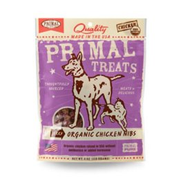 Primal Jerky Organic Chicken Nibs for Dogs & Cats 4oz