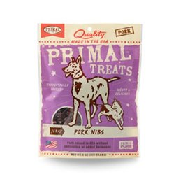 Primal Jerky Pork Nibs for Dogs & Cats 4oz