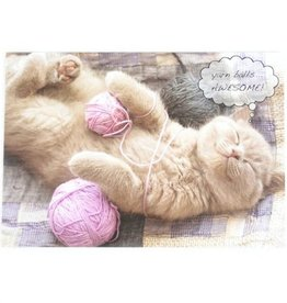 Dog Speak Dog Speak Greeting Card Birthday Cat Yarn Balls