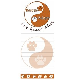 "E&S E&S Pets Magnetic Notepad ""Love Rescue Adopt"""