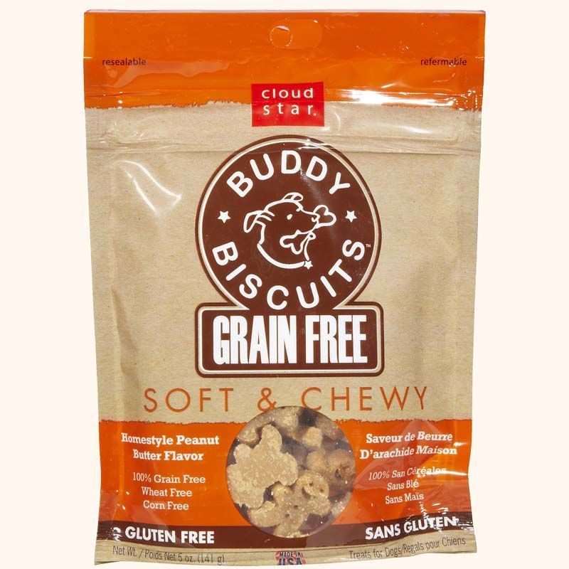 Cloud Star Buddy Biscuits Soft & Chewy Peanut Butter 5oz