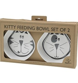 Ore Ore Pet Cosmic Kitty Black & Grey Bowl Set