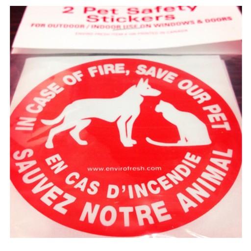 Enviro Fresh Safety Sticker 'Save My Pet'