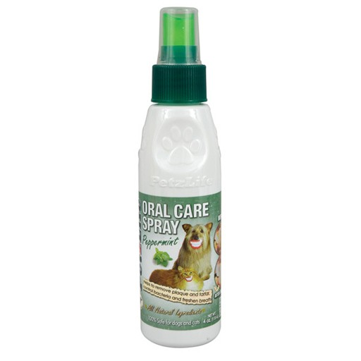 PetzLife Oral Care Spray Peppermint 4oz
