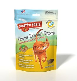Emerald Pet Products Smart n' Tasty Feline Dental Treat Turducky 3oz