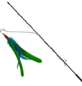 Go Cat Go Cat Da Bird with Rod (Guinea Feather)