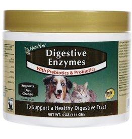 NaturVet NaturVet Digestive Enzyme Powder with Prebiotics & Probiotics 8oz