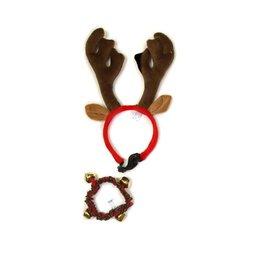 Kyjen Outward Hound Antler Headband + Collar Large