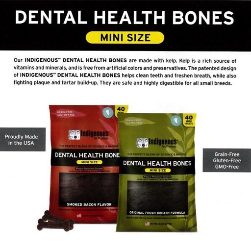 Indigenous Dental Health Bones Mini Original Fresh Breath Bone 13.2oz