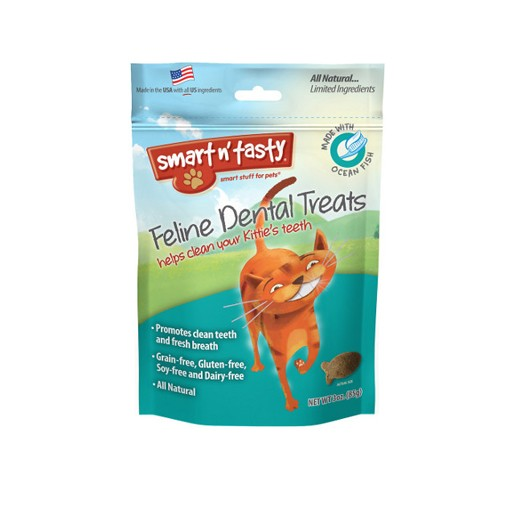 Emerald Pet Products Smart n' Tasty Feline Dental Treat Ocean Fish 3oz