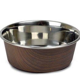 Our Pets Durapet Our Pets Wood Grain Collection Dark Brown 2.25 cup