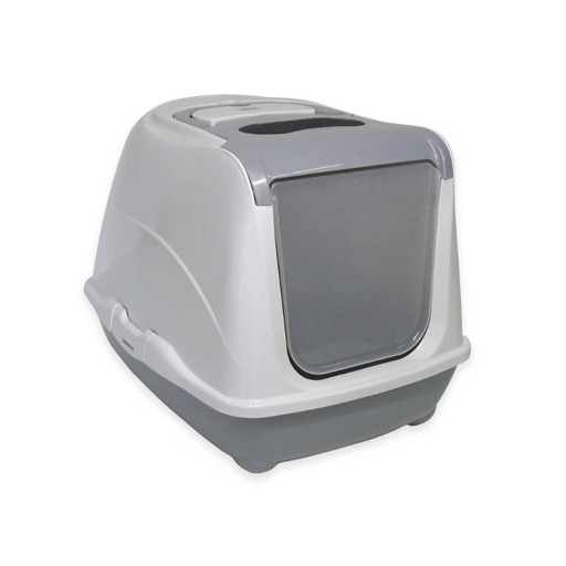 Moderna Moderna Flip Cat Enclosed Litter Box Warm Grey Jumbo