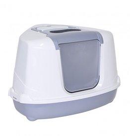 Moderna Moderna Flip Cat Corner Covered Litter Box Grey