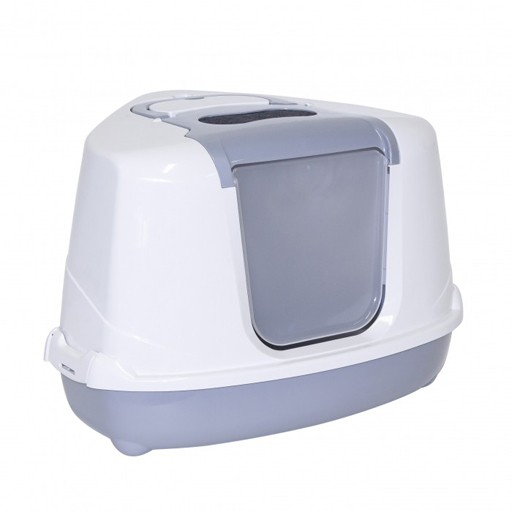 Moderna Moderna Flip Cat Corner Covered Litter Box Grey
