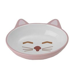 "Petrageous Petrageous Sleepy Kitty Bowl 5.5"" Oval Pink"