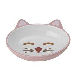 """Petrageous Petrageous Sleepy Kitty Bowl 5.5"""" Oval Pink"""