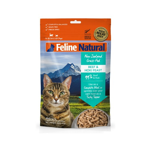 K9 Natural K9 Feline Natural Freeze Dried Beef & Hoki 320g