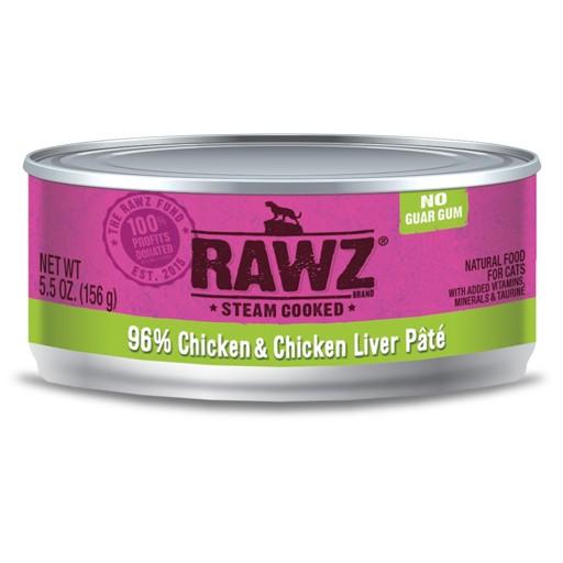 Rawz Cat Can 96% Chicken & Chicken Liver 5.5oz