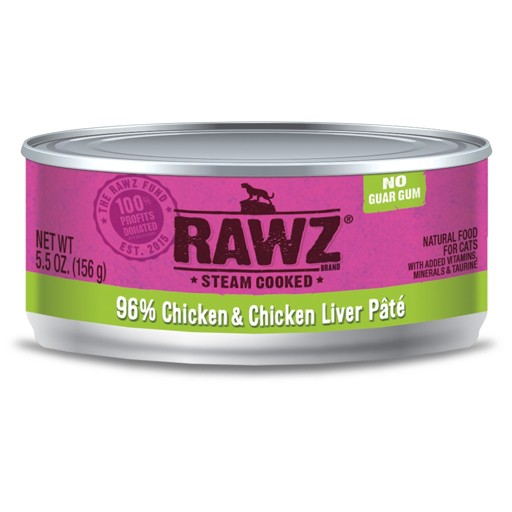 Rawz Cat Can Chicken & Chicken Liver 5.5oz