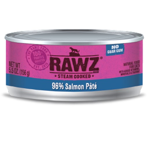 Rawz Cat Can 96% Salmon 5.5oz