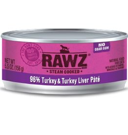 Rawz Cat Can 96% Turkey & Turkey Liver 5.5oz