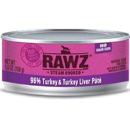 Rawz Cat Can Turkey & Turkey Liver 5.5oz