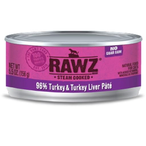 Rawz Cat Can 96% Turkey & Turkey Liver 5.5oz