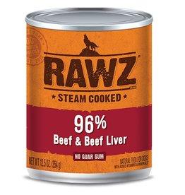 Rawz Dog Can 96% Beef & Beef Liver 12oz