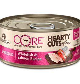 Wellness Wellness Cat CORE Hearty Cuts Shredded Whitefish & Salmon 5.5oz