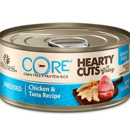 Wellness Wellness Cat CORE Hearty Cuts Shredded Chicken & Tuna 5.5oz