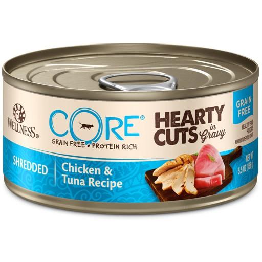 Wellness Wellness Cat CORE Hearty Cuts Shredded Chicken & Tuna 5.5oz