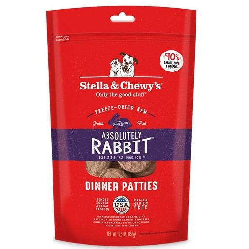 Stella & Chewy's Stella & Chewy's Exotic Freeze Dried Absolutely Rabbit Dinner 14oz