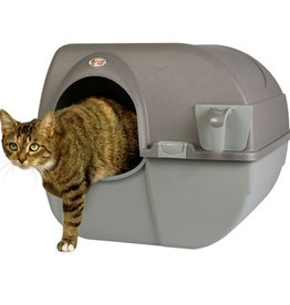 Omega Omega Paw Roll' N Clean Self Cleaning Litter Box Regular Brown