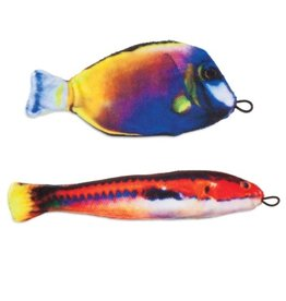 Petmate Petmate Jackson Galaxy Catch of the Day Photo Finish Fish Toy 2pk