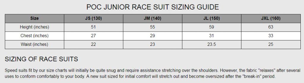 POC Skin GS Jr Race Suit