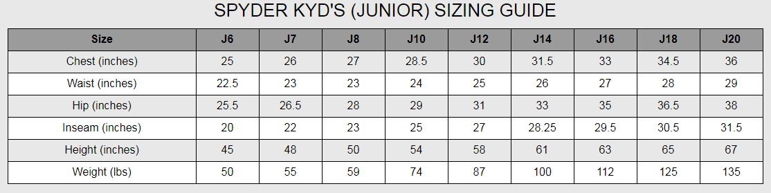 SPYDER Junior Training Short UNISEX