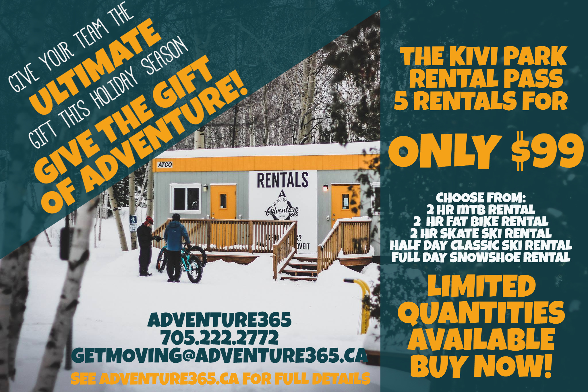 a365 KIVI PARK 5 PACK  RENTAL PASS 2019/2020
