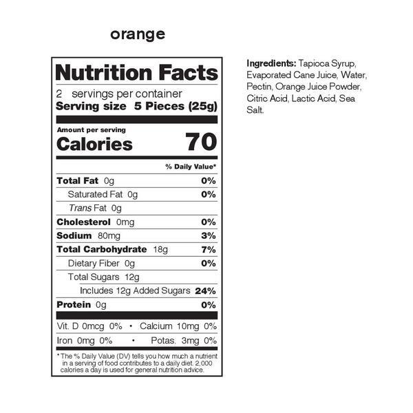 Skratch Labs Sport Energy Chews - Single Pouch Orange