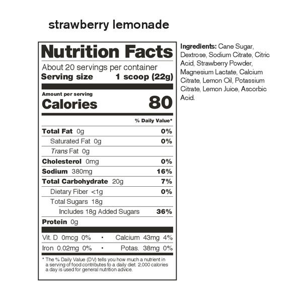 Skratch Labs Sport Hydration Mix Strawberry Lemonade 440G