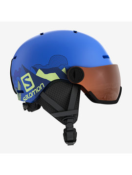 Salomon Grom Visor Junior Ski Helmet