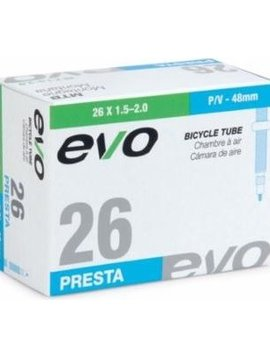 EVO BICYCLE TUBE PRESTA 48MM 26 X 1.5-2.0