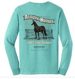 Equestrian Prep Eq Prep Amazing Horses Long Sleeve Tee